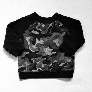 Koala Baby Black Army Print Sweatshirt